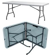 Складной стол СМ1. Пластик,  металлокаркас.