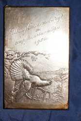 Серебряная накладка «Глухарь»  из наркомовского набора. СССР,  1930-е г