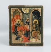 Подписная икона Рождество Пресвятой Богородицы. Россия,  XVIII век.