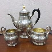 Cтаринный чайный набор из серебра