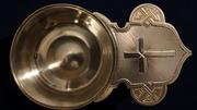 Старинный серебряный корец для теплоты и вина. Москва,  кон. XIX в.