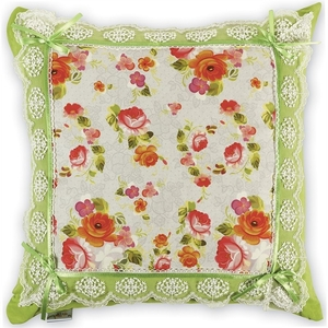 Декоративная  подушка  с кружевом  43*43