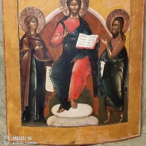 Старинный запрестольный храмовый образ «Деисус». Россия,  конец XVIII в