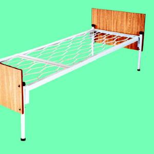 Кровати металлические с ДСП спинками и сварными сетками