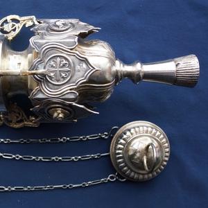Старинная серебряная лампада огромного размера. Москва,  1854 год.