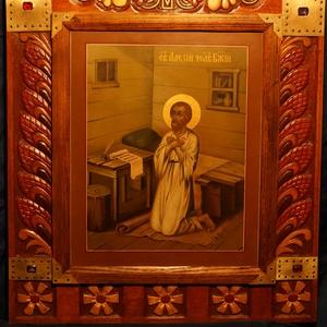 Образ святого Алексия Человека Божия в окладе. Россия,  середина ХХ ве