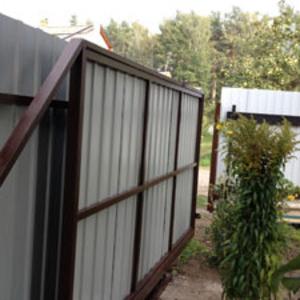 Установка заборов,  ворот,  металлоконструкций