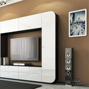 Стенка белая iMeb Мебель Неман в hi-tech в стиле iPad