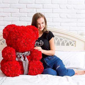 Медведи из фоамирановых роз от производителя