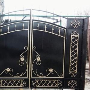 Заказать кованые воротас художественной ковкой