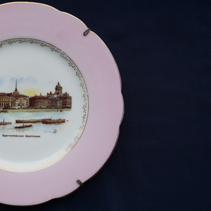 Старинная декоративная тарелка