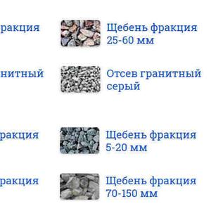 Щебень гранитный Петродворцовый район
