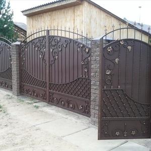 Изготовим для Вас кованые ворота,  ворота распашные, откатные.